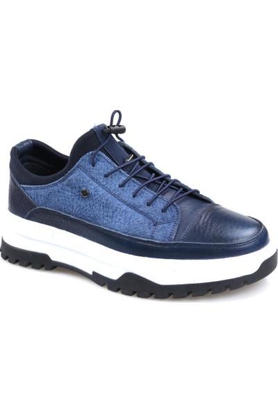 James Franco 5974 Lacivert Günlük Erkek Deri Ayakkabı