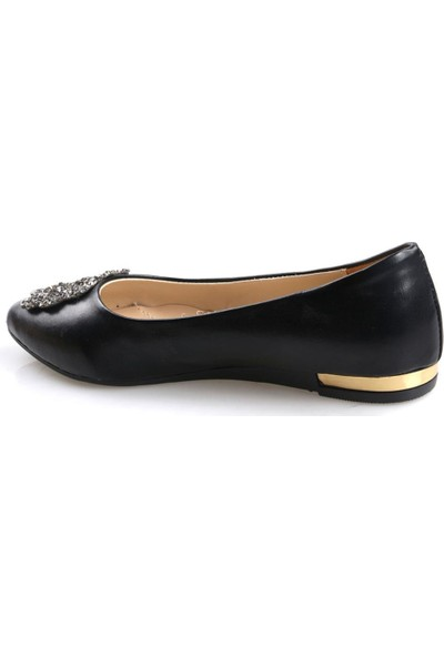 Polaris Siyah Kadın Günlük Babet Ayakkabı