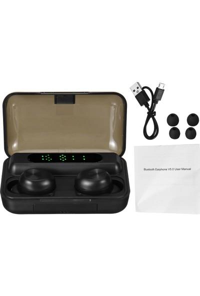 Insma F9-10 Tws Dijital Ekran Kulak Içi Mini Bluetooth Kablosuz Telefon Kulaklığı Spor Gürültü Azaltma Stereo Ses Kulaklık Şarjlı Kılıf (Yurt Dışından)