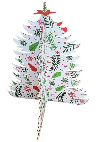 Prigo Karton Yılbaşı Ağacı-Beyaz