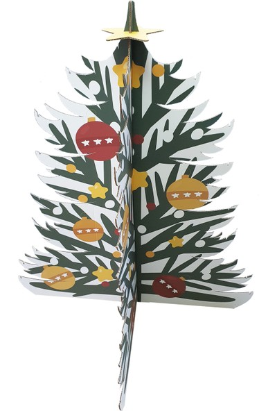 Prigo Karton Yılbaşı Ağacı-Yeşil