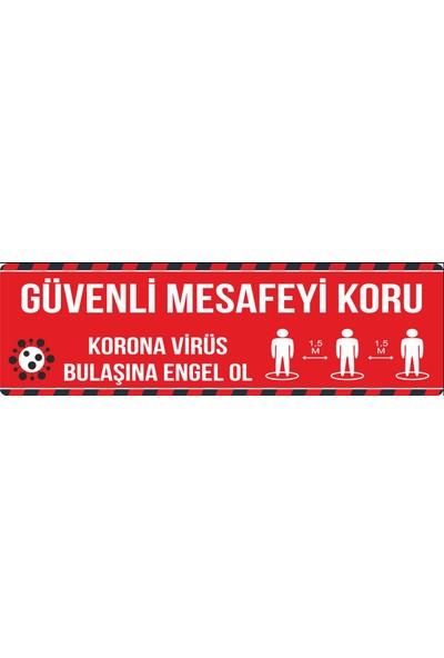 Oledya Sosyal Mesafe Uyarı Zemin Etiketi - 50 x 15 cm
