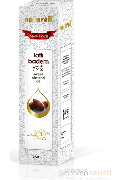Naturoil Tatlı Badem Yağı 250 ml