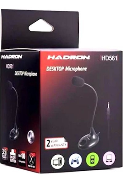 Hadron HD562 Masaüstü Tipi Standlı Bilgisayar Mikrofonu