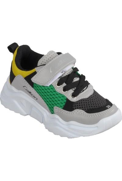 Callion 054 Füme-Buz-Yeşil Çocuk Spor Ayakkabı