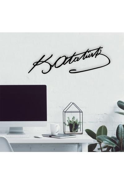 Vatmart Atatürk Imza Dekoratif Duvar Metal Tablo Ofis Ev Hediyesi