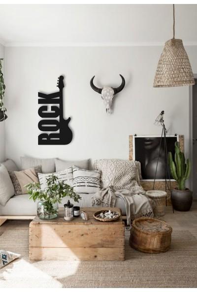 Vatmart Rock Gitar Dekoratif Duvar Metal Tablo Ev Ofis Hediyesi