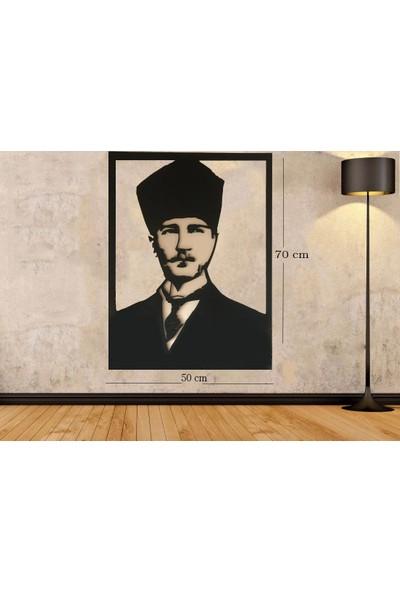 Newnow Dekorasyon Atatürk Ahşap Tablo