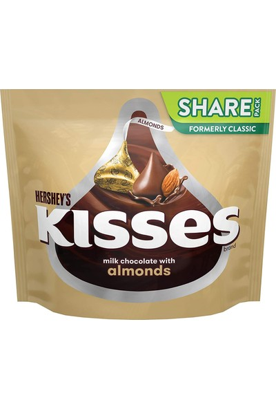 Hershey's Kisses Almond Chocolate Bademli Çikolata 283 gr