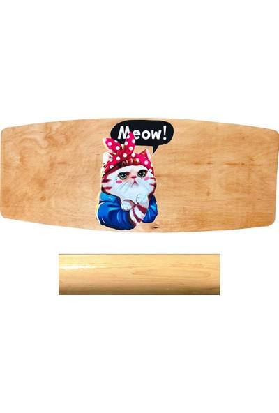 Woodie Denge Tahtası Kedi-Balance Board 70X29X1.5CM