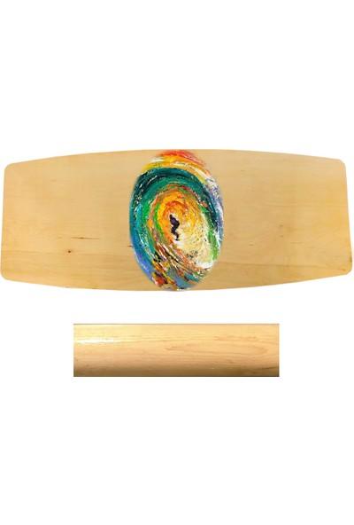 Woodie Denge Tahtası Surf-Balance Board 70X29X1.5CM