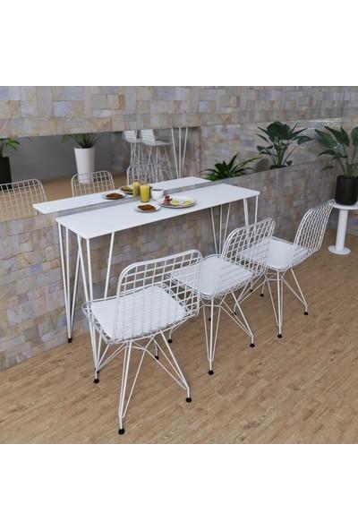 Knsz Masa Sandalye Takımı Huve Byzbyz 120*040 3 Sandalye Byzbyz