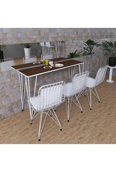 Knsz Masa Sandalye Takımı Huve Cvzbyz 120*040 Sm 3 Sandalye Byzbyzsm