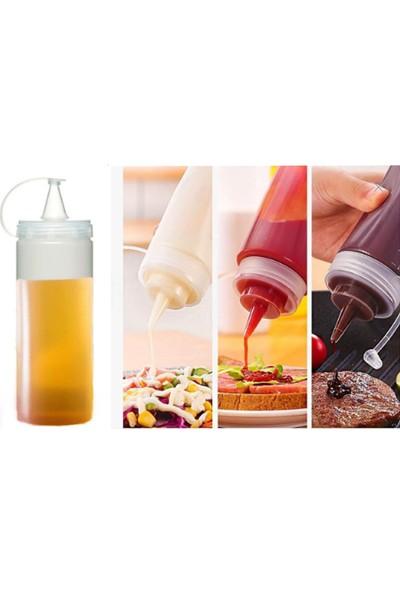 Bimbambom Şeffaf Sos Şişesi 700 ml 2 Adet, Yağdanlık, Sirkelik, Kafe Sos Şişesi