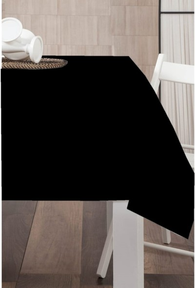 Derinteks Leke Tutmaz Dertsiz Masa Örtüsü Siyah 100 x 100 cm