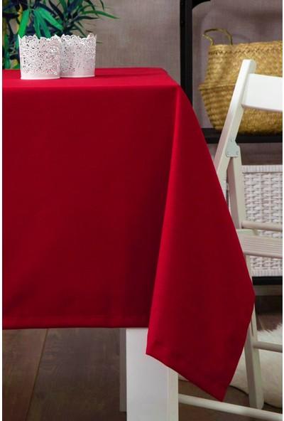 Derinteks Leke Tutmaz Dertsiz Masa Örtüsü Kırmızı 100 x 100 cm