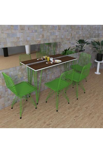 Knsz Masa Sandalye Takımı Huve Cvzyşl 140*040 4 Sandalye Yşlyşl