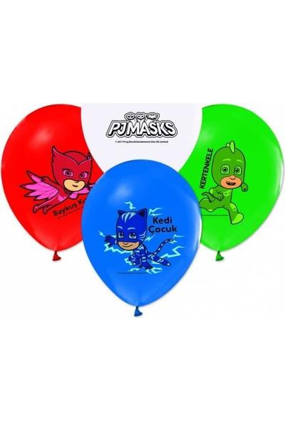 Parti Furyası Pijamaskeliler Pj Mask Balon 10 Adet
