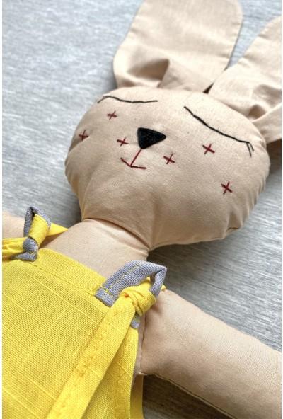 Özgür Yağmur El Yapımı Uyku Arkadaşı -Keten Tulumlu Tavşan
