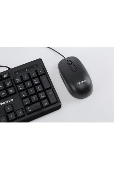 Wozlo WZ-KT803 USB Klavye Mouse Set - Kablolu - Yumuşak Tuşlu Takım
