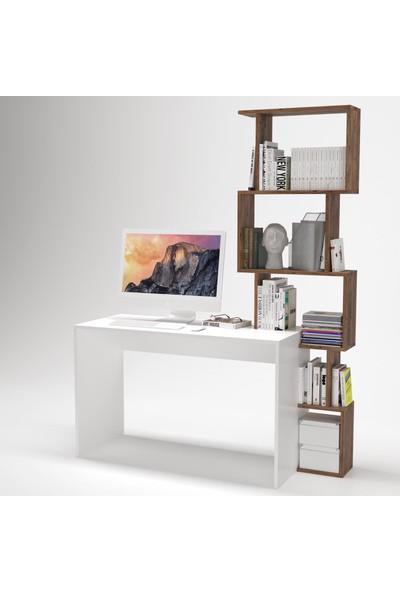 Y&E Albero Dekoratif Raflı Çalışma Masası