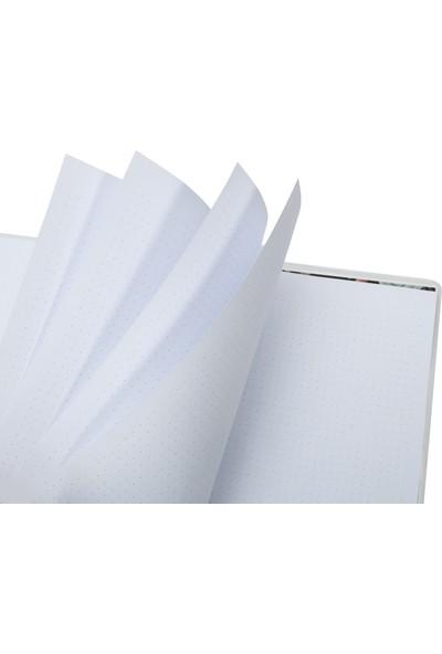 Victoria's Journals Angela Spiralli Noktalı Defter 16,2 x 21,5 cm Kahverengi