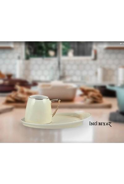 Remetta Terra Kahve Fincan Takımı 12 Parça 6 Kişilik Krem