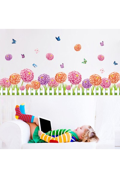 Famelya Bahçe Çiti Görünüm Ev Dekor Duvar Sticker Çıkartma Seti