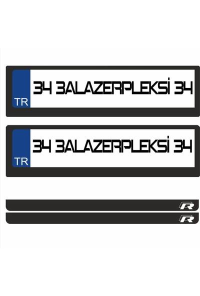 3A Lazerpleksi Golf R Logolu Plakalık