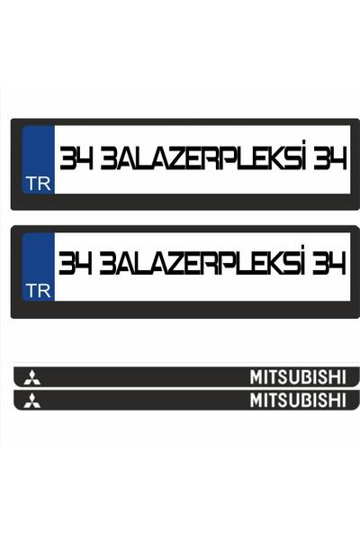 3A Lazerpleksi Mitsubishi Logolu Plakalık