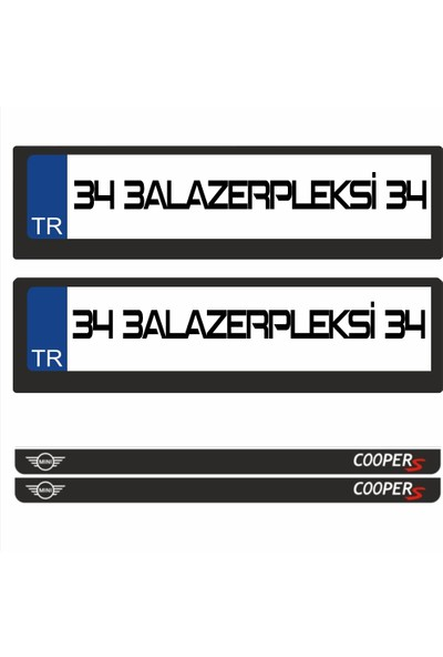 3A Lazerpleksi Mini Cooper Logolu Plakalık