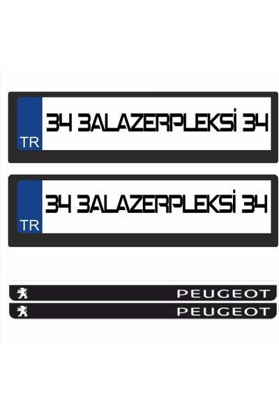 3A Lazerpleksi Peugeot Logolu Plakalık