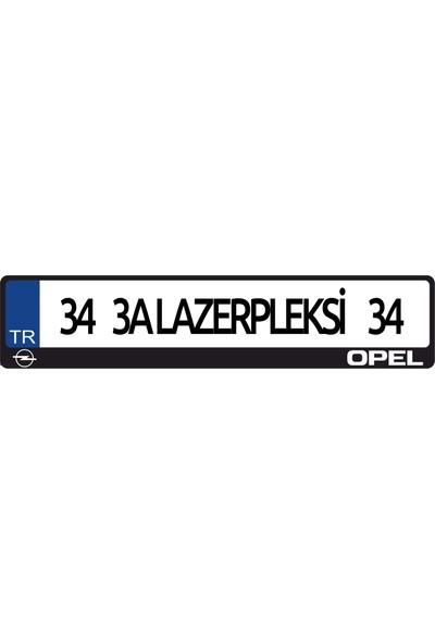 3A Lazerpleksi Opel Logolu Plakalık