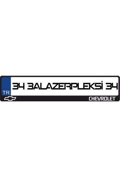 3A Lazerpleksi Chevrolet Logolu Plakalık