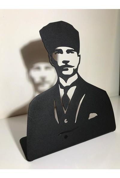 Atatürk Dekoratif Masaüstü Metal Tablo
