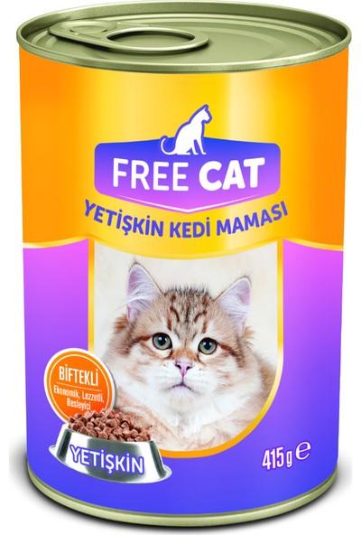 Free Cat Kedi Mama Biftek Yetişkin 415 gr