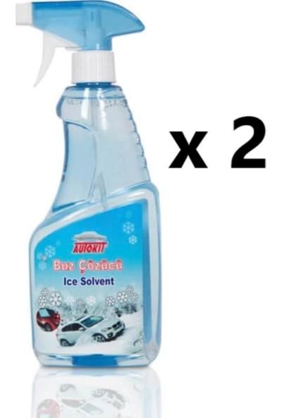 Autokit Oto Cam Buz Çözücü Sprey 500 ml 2 Adet
