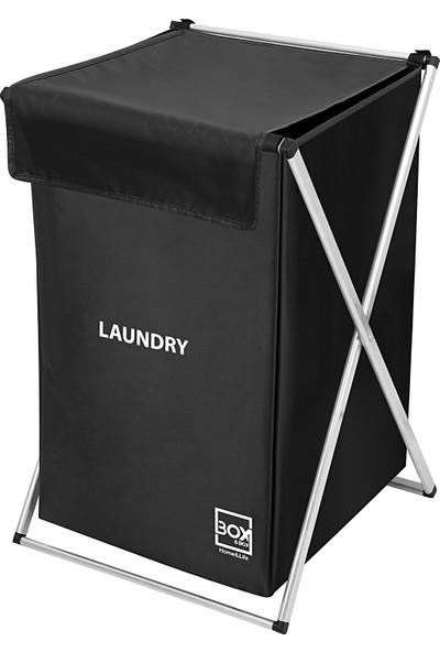 Box&box Tekli Çamaşır Sepeti / Kirli Sepeti - Siyah