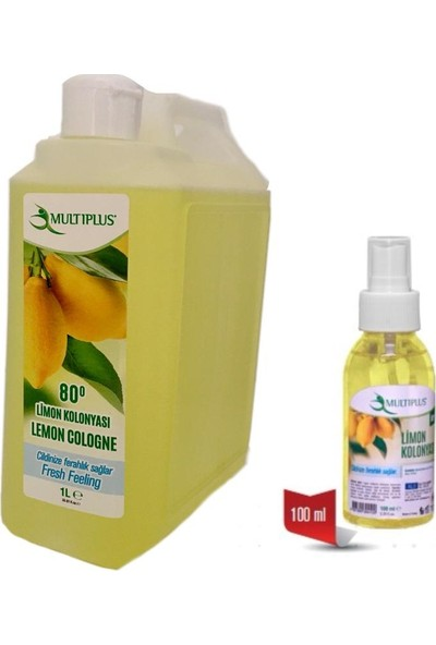 Multıplus Limon Kolonyası 100 ml + 1 lt