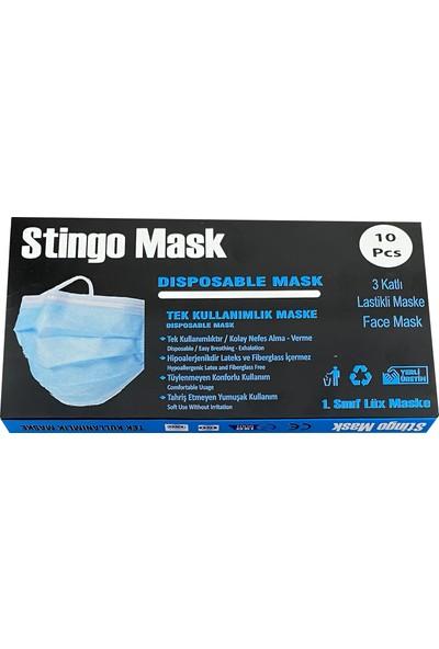 Stingo Telli 3 Katlı Tek Kullanımlık Maske 10 Adet
