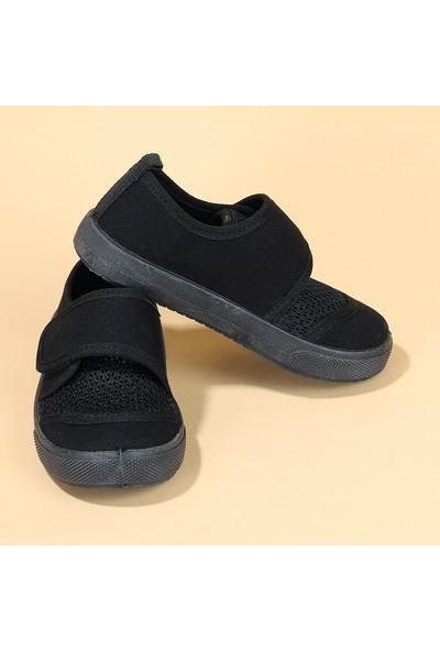 Sanbe 401 R 002 Anatomik Kız/Erkek Çocuk Keten Ayakkabı Siyah