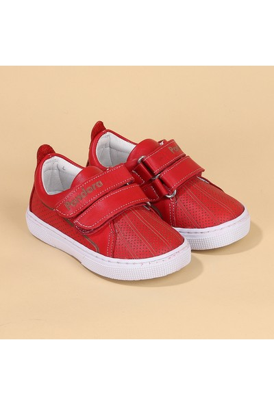Kiko Pnd 401DS101 Deri Kız/Erkek Çocuk Spor Ayakkabı Kırmızı