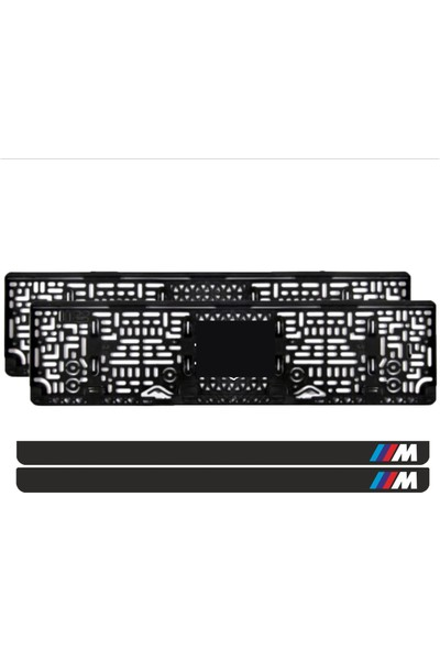 Appcity Bmw ///m Logo Takmatik Pleksi Plakalık (2 Adet)