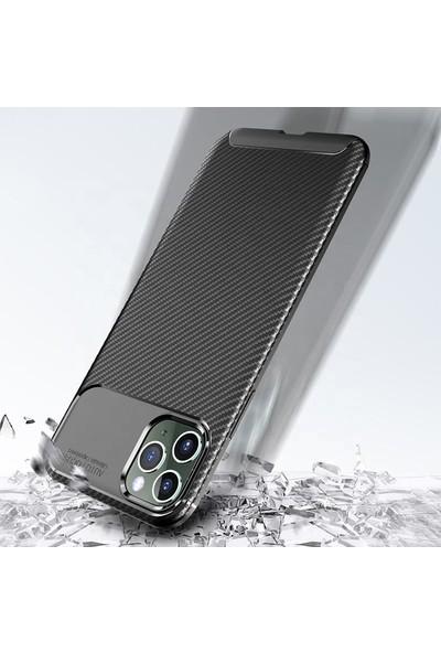 """Engo Apple iPhone 12 Pro 6.1"""" Kılıf Karbon Fiber Beetle Series Negro"""