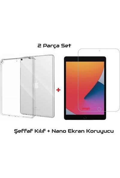 Engo Apple iPad 8. Nesil Şeffaf Kılıf + Nano Ekran Koruyucu Flexible