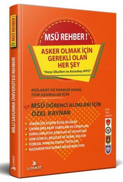 Liyakat Yayınları MSÜ Rehber - 2021 Alımlarına Özel Hazırlık - Rütbeli Asker Olmak İçin Gerekli Olan Her Şey