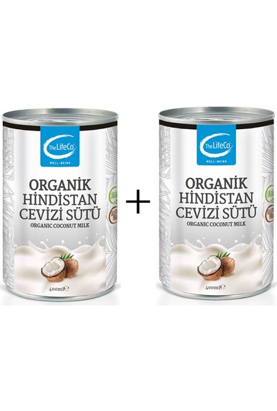 The Lifeco Hindistan Cevizi Sütü 2 x 400 ml