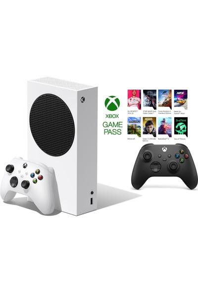 Microsoft RRS-00010 Xbox Series S 512GB SSD Oyun Konsolu Beyaz + 1 Kol Siyah + 1 Yıl Gamepass ( Microsoft Türkiye Garantili )