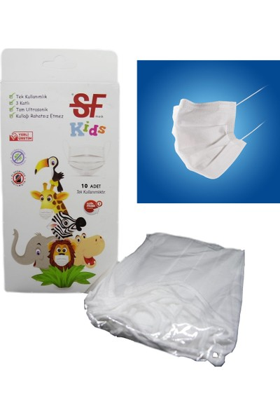 Sf Mask Tek Kullanımlık Çocuk Maskesi 10 Adet
