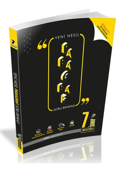 Startfen Yayınları Yeni Nesil 7. Sınıf Paragraf Soru Bankası